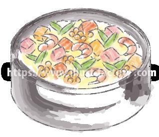 水彩タッチで描いた食べ物のイラスト H173-1