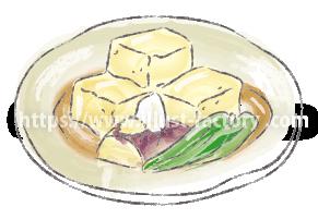 水彩タッチで描いた食べ物のイラスト H173-3