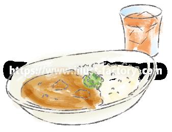 水彩タッチで描いた食べ物のイラスト H173-4