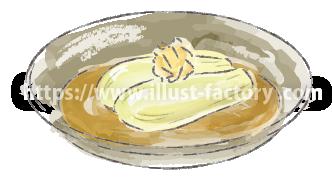水彩タッチで描いた食べ物のイラスト H173-5