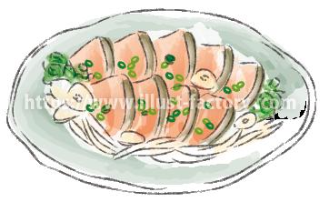 水彩タッチで描いた食べ物のイラスト H173-6