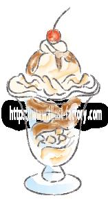 水彩タッチで描いた食べ物のイラスト H173-7
