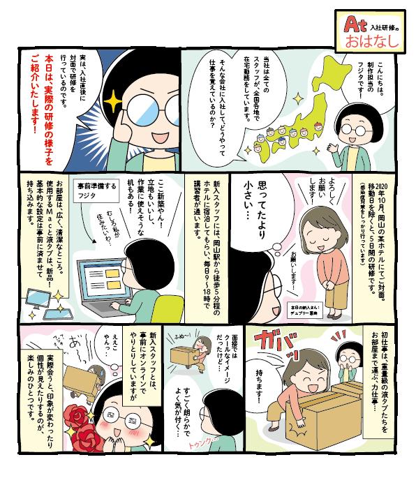 求人入社研修風景漫画 J52-1