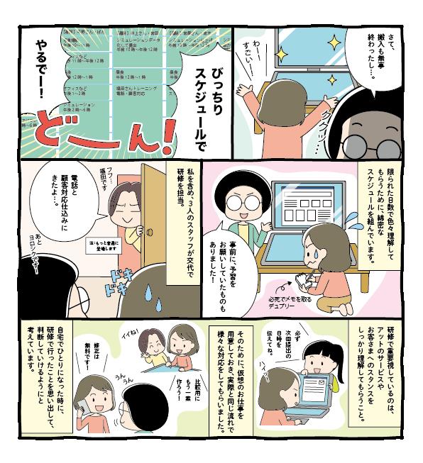 求人入社研修風景漫画 J52-2