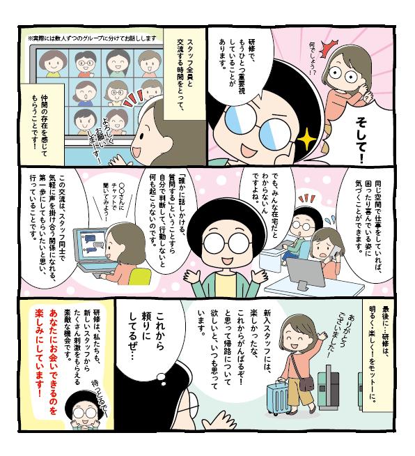 求人入社研修風景漫画 J52-3