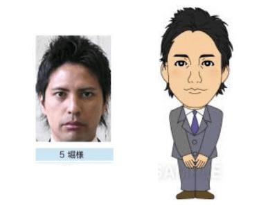 P3-5 デフォルメを利かせたシンプルな似顔絵制作例 直立する男性